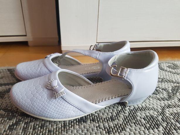 Buty dziewczęce pantofelki komunijne