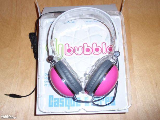 Śliczne słuchawki stereo marki LA CHAISE LONGUE różowe lub zielone