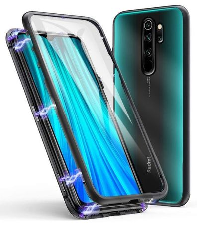 Etui 3w1 Magnetic GLASS 360° - Aluminium do Xiaomi Redmi 9
