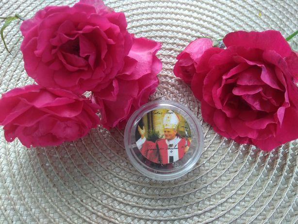 Przecudny różaniec z płatków róż Watykański Papieski Totus tuus JP II