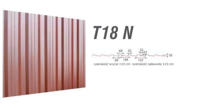 blacha trapezowa t 18-N t 7 połysk mat grafit brąz