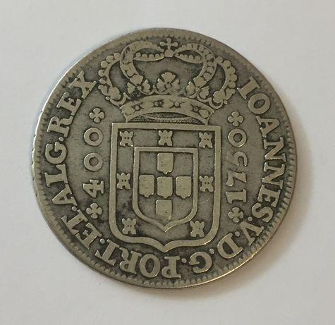 moeda CRUZADO NOVO (480 Réis) 1750 - D. João V - prata