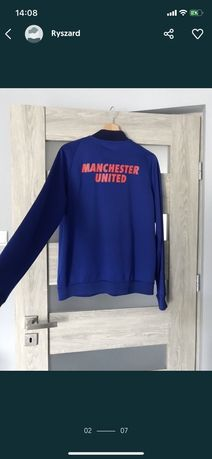 Elastyczna bluza manchester united klubowa orginalna zapinana