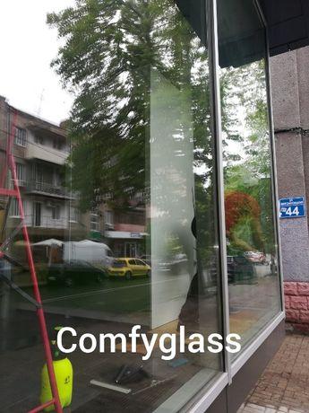 защитная противоударная пленка на окна. тонировка окон тонирование