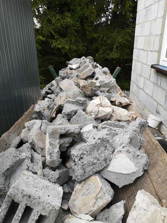 Gruz pustak pustaki cementowo-żużlowe biała cegła ZA DARMO