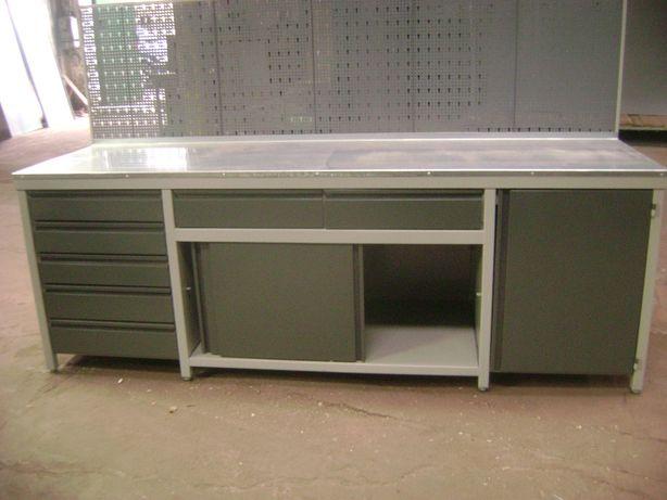 Stół warsztatowy 250x70x90 z dzwiami suwanymi
