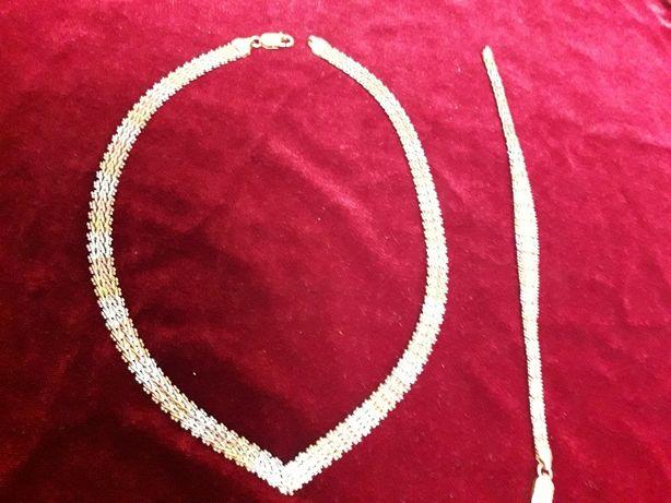 Подарок любимой - колье и браслет (Италия)