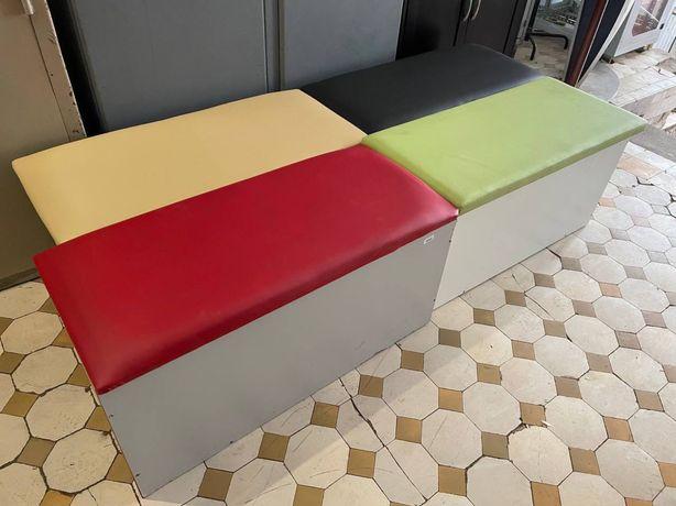 Пуфики с коробом банкетки лавочки диван в офис в прихожку