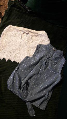 Wiązana koszula i spodenki  r.146/152
