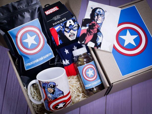 Подарочный набор Marvel Капитан Америка Железный Человек Паук Мстители