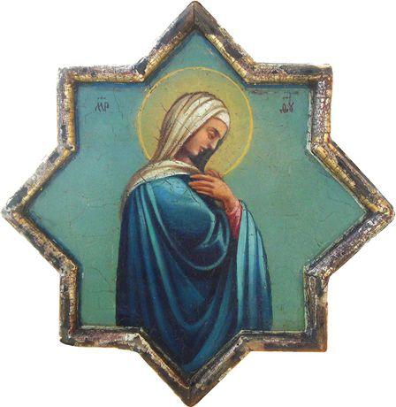 Икона Богородица/Св.Иоанн, 28.5 ок. 1800г Сертификат.