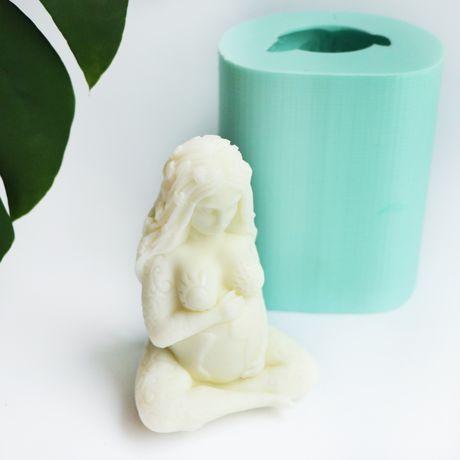 Силиконовая форма молд для свечей мыла гипса Богиня земли Гея Гая Гейа