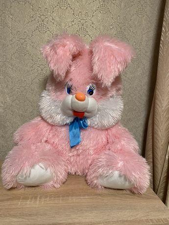 Розовый зайчик большой