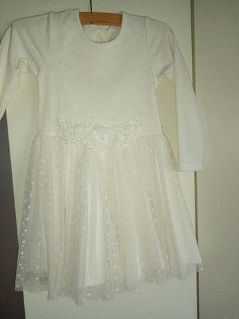 Sukienka ecru 98/104.