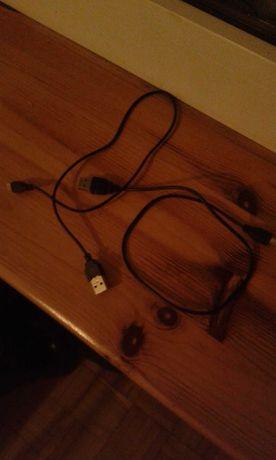 Dwa jeszcze jakoś działające kable MICRO USB