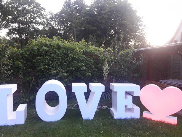 Sprzedam napis LOVE z Sercem