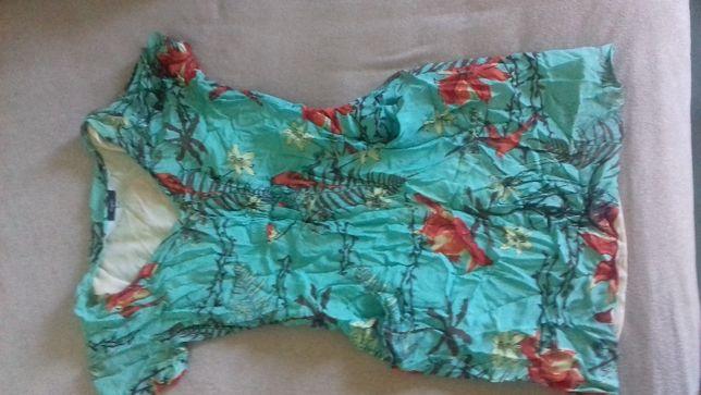 Sukienka na lato zwiewna kieszonki kwiaty ptaki sukienka lato