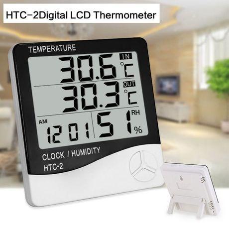 Термометр, гигрометр, часы, метеостанция HTC-2 + выносной датчик