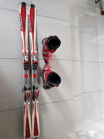 Narty Rossignol i buty narciarskie Nordica