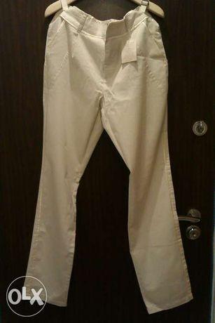 Eleganckie spodnie London Jean by Victoria's Secret nude L/XL