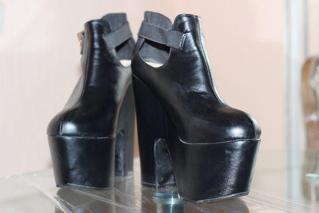 кожаные ботильоны, ботинки, сапоги