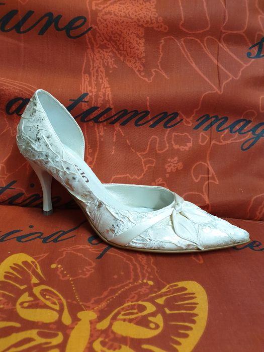 Obuwie ślubne czółenka szpilki buty wizytowe 36 38 40 Łódź - image 1