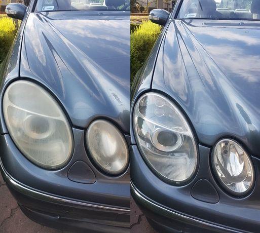 Pranie tapicerki mycie polerowanie reflektorów lakierów autokosmetyka