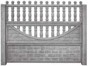 Еврозабор от производителя бетонный серый