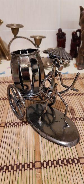 Карандашница рикша, статуэтка техно- арт