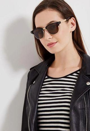 Новые солнцезащитные очки Polaroid PLD1027 Clubmaster черно-коричневые