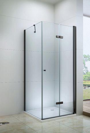 Kabina prysznicowa CZARNA uchylna składana Rozmiary black