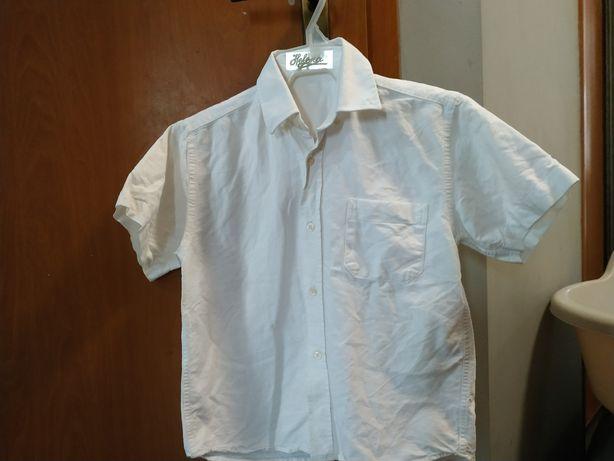 Koszulka biała chłopięca 128