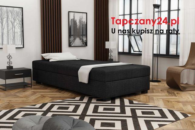 Łóżko jednoosobowe z materacem Tapczan Sofa +pojemnik