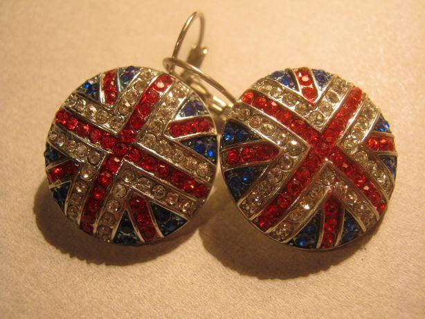 Серьги флаг Великобритании.