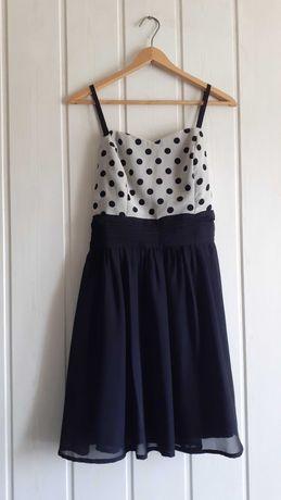 Retro vintage sukienka w groszki kropki