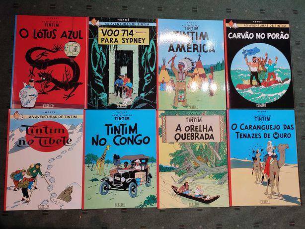 Lote Livros BD Tintin - Cada 3 €
