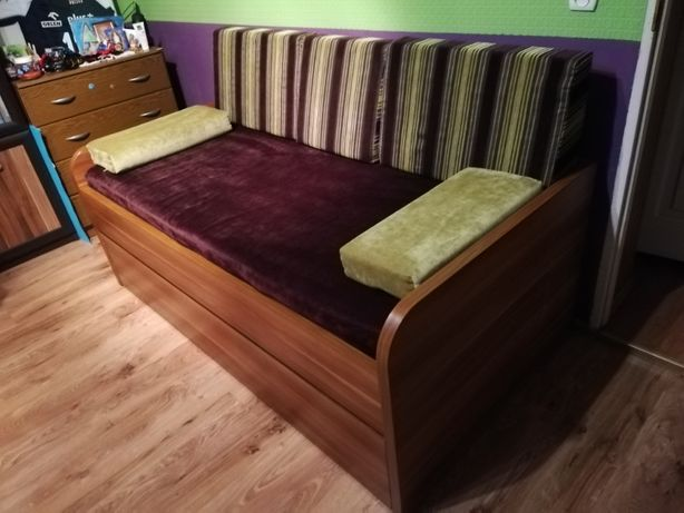 kanapa rozkładana piętrowa ze skrzynią