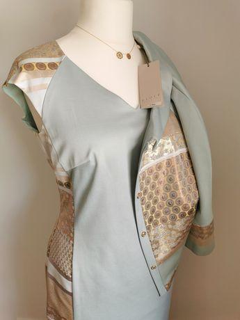 Paola Collection r. 42 - efektowny damski kostium NOWY z metkami