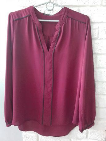 Elegancka bluzka, lekka, przewiewna z długim rękawem r. 42/44 XL