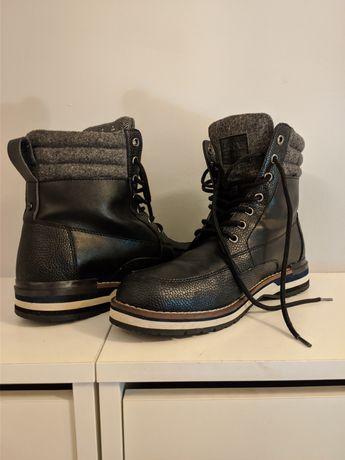Nowe buty zimowe - męskie DKNY 100% skóra naturalna - roz. 40 okazja!