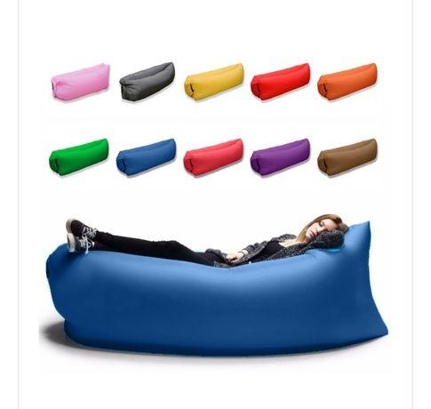 Lazy bag lazybag materac pompowany granatowy/niebieski