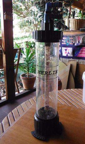 Filtro fluidizante para aquário