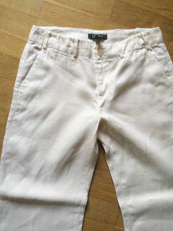 Ralph Lauren spodnie lniane damskie