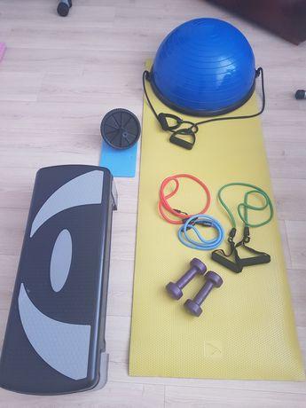 Półpiłka stepper taśmy płyty fitness duży zestaw
