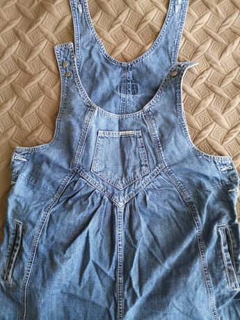 Комбинезон для беременных джинсовый