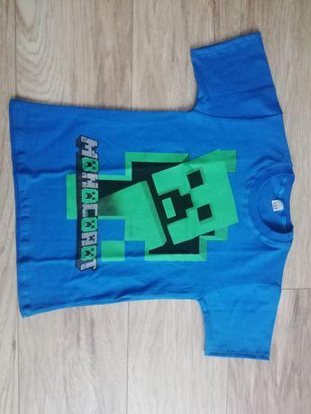 Minecraft koszulka 122 i bluzka 128