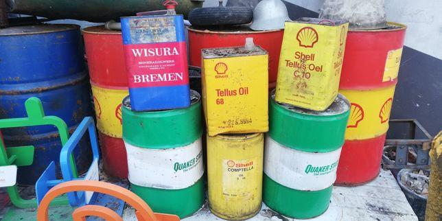 Beczki blaszane po oleju