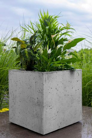 Donice tarasowe ogrodowe,  Donica beton architektoniczny, Wazon