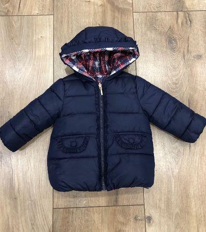 Очаровательная двухсторонняя куртка на девочку Mayoral 86р.