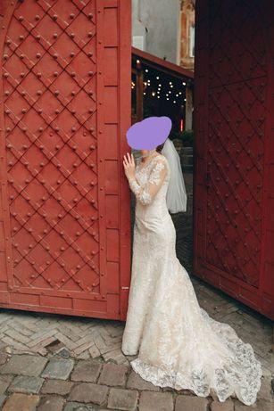 Модельное свадебное платье рыбка